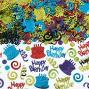 Happy Birthday Type Confetti 2 1/2oz