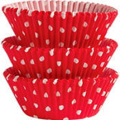 Red Polka Dots Baking Cups 75ct