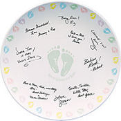 Baby Feet Autograph Plate 12in
