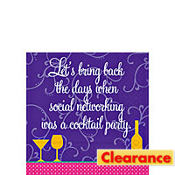 Social Network Beverage Napkins