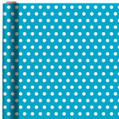Jumbo Caribbean Blue Polka Dot Gift Wrap
