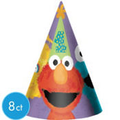 1st Birthday Sesame Street Party Hats 8ct