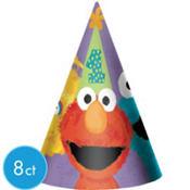 1st Birthday Sesame Street Party Hats 8ct