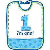 Vinyl Boy 1st Birthday Bib
