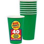 Forest Green Coffee Cup 16oz 40ct