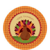 Thanksgiving Dinner Dessert Plates 18ct