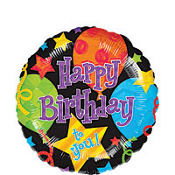 Foil Jubilee Happy Birthday Balloon 18in