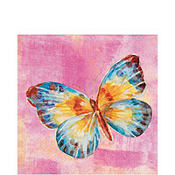Papillon Pink Lunch Napkins 20ct