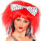 Polka Dot Bow Punk Wig