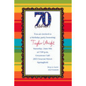 A Year to Celebrate 70 Custom Invitation