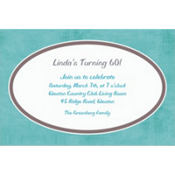 Turquoise Border Custom Invitation