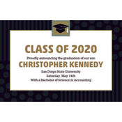 Class Pride Custom Graduation Announcement