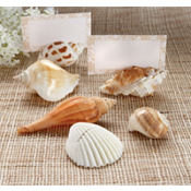 Shells By The Sea Shell Place Card Holder Wedding Favor 6ct