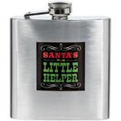 Santa's Little Helper Christmas Flask