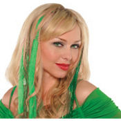 Green Hair Extensions 15in 4ct