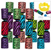 Multicolor Animal Print Crackers 10in 8ct