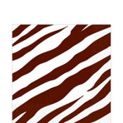 Chocolate Zebra Print Lunch Napkins 36ct