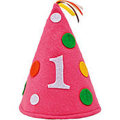 Sweet At One Girls 1st Birthday Felt Hat