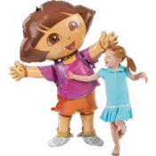 Giant Gliding Dora the Explorer Balloon 52in