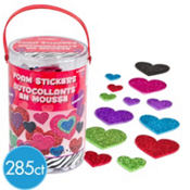 Glitter Hearts Foam Sticker Kit 285ct