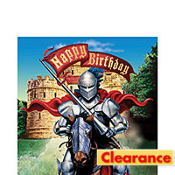 Valiant Knight Happy Birthday Lunch Napkins 16ct