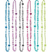 Happy Birthday Bright Necklaces 6ct