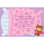 Sleepover Custom Invitation