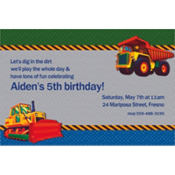 Under Construction Custom Invitation