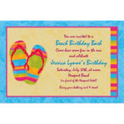 Flip Flops Custom Invitation