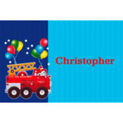 Fire Engine Fun Custom Thank You Note
