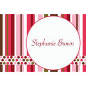 Party Stripe Custom Thank You Note
