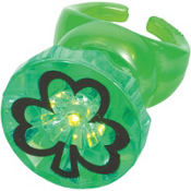 St. Patricks Day Light Up Ring