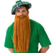 Long Orange Leprechaun Beard