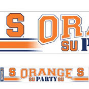 Syracuse Orange Party Banner 13in x 69in