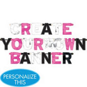 Zebra Party Create Your Own Banner 84pc
