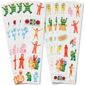 Yo Gabba Gabba Stickers 8 Sheets