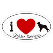 Golden Retriever Car Magnet