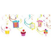 Sweet Stuff Swirl Decorations 12ct