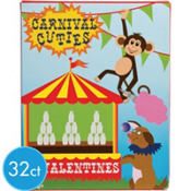 Carnival Cuties Valentines Day Cards 32ct