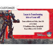 Transformers 3 Custom Invitation