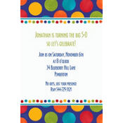 Birthday Fever Fun Custom Invitation