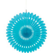 Caribbean Paper Fan Decoration 16in