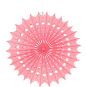 Light Pink Paper Fan Decoration 16in