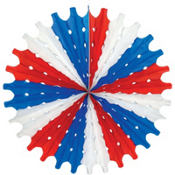 Patriotic Paper Fan Decoration 22in