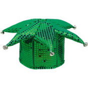Green Sequined Jester Hat