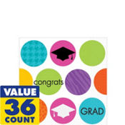 Colorful Commencement Beverage Napkins 36ct