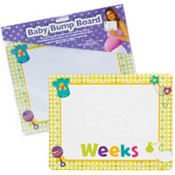 Baby Bump Dry Erase Board 9in