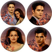 Twilight Breaking Dawn Buttons 4ct