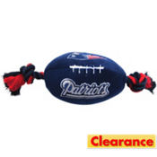 New England Patriots NFL Football Dog Toy
