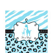 Blue Safari Baby Shower Lunch Napkins 36ct